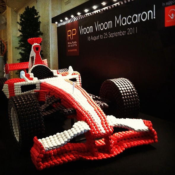 F1 Car made of Macaroons